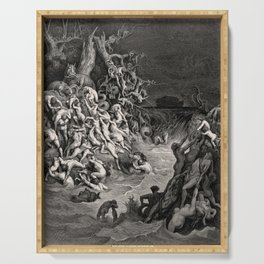 World Destroyed by Water Gustave Dore, 1866 Serving Tray