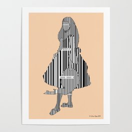 Whistler in Barcode, Harmony in Grey and Green, Peach-Orange Poster