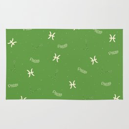 Pisces Pattern - Green Rug