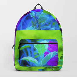 Purple Peony and Roses Garden Collage 002 Backpack