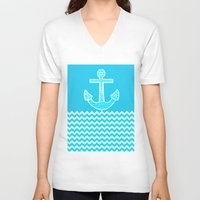 anchor V-neck T-shirts featuring Anchor by haroulita