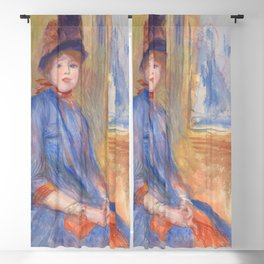 "Pierre-Auguste Renoir ""Young Girl in a Blue Dress"" Blackout Curtain"