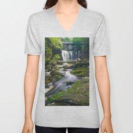 Blackwater Falls State Park Waterfall Print Unisex V-Neck