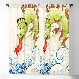 A happy dragon Blackout Curtain