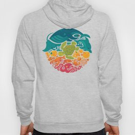 Aquatic Rainbow (light blue) Hoody