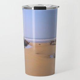 ROCK POOLS SANDYMOUTH BEACH NORTH CORNWALL Travel Mug