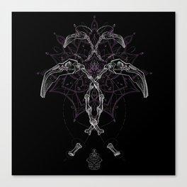 Flamingo Skull Canvas Print