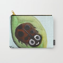 Cheerful Ladybug Carry-All Pouch