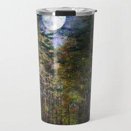 Magical Moonlit Forest Travel Mug