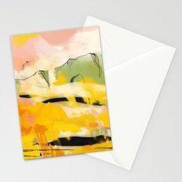 landscape abtract - paysage jaune Stationery Cards