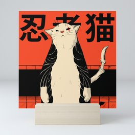 Neko ninja 2 Mini Art Print