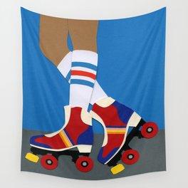 70s Roller Skate Girl Wall Tapestry