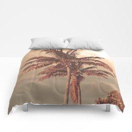 Retro Palm Tree Comforters