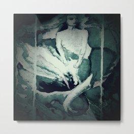 Vintage mermaid II Metal Print