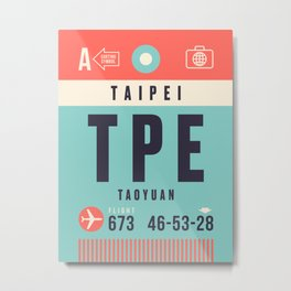 Baggage Tag A - TPE Taipei Taiwan Metal Print
