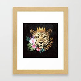 superior in the jungle Framed Art Print