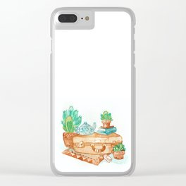Travel Time Clear iPhone Case