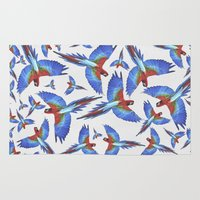 parrot Area & Throw Rugs featuring Parrot. by Eleaxart