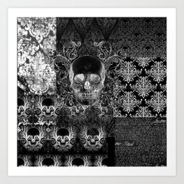 Quilted Skull Art Print