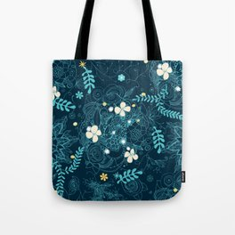 Dark floral delight Tote Bag