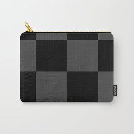 Black 2 Tone Pattern Carry-All Pouch