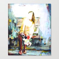cassia beck Canvas Prints featuring Beck by Susan Sage Art