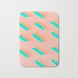 Neon Abstract Pasta Noodles Pattern (Color) Bath Mat