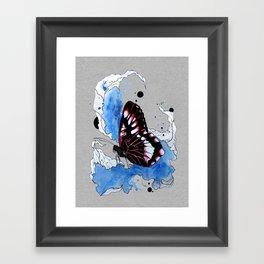 Butterfly III ink by carographic, Carolyn Mielke Framed Art Print
