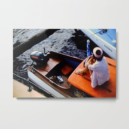 On A Boat I Metal Print