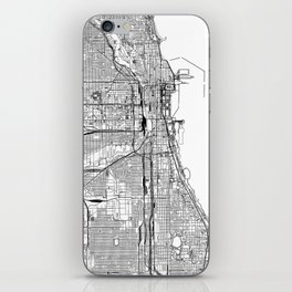 Chicago White Map iPhone Skin