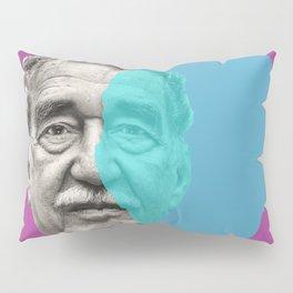 Gabriel Garcia Marquez - purple blue portrait Pillow Sham