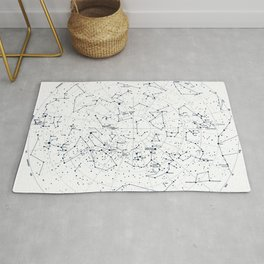 Stars Constellations Map, Astronomy Cosmos, Universe Rug
