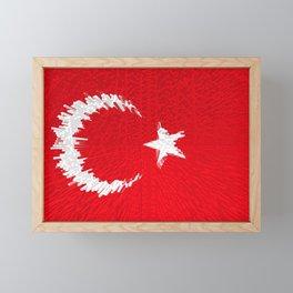 Extruded flag of Turkey Framed Mini Art Print