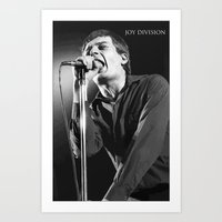 Ian Curtis Concert Poster Art Print