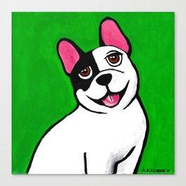 French Bulldog Toon Print Canvas Print