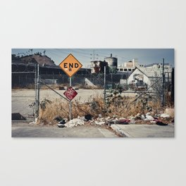 """""""It's the end of the road for me"""" Canvas Print"""