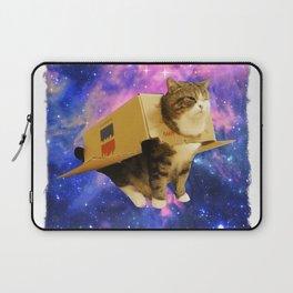 Astronaut Cat Shirt Awesome Box Spaceship Epic Cat Meme Tee Laptop Sleeve