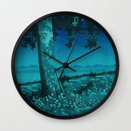 Nightime in Gissei Wall Clock
