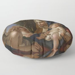 Sebastiano Ricci - The Holy Family with Angels Floor Pillow