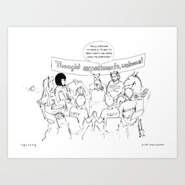 Thought Experiment Support Group Art Print
