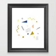 terrazzo confetti Framed Art Print