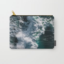 Crashing ocean waves - Ireland's seascapes at sunset Carry-All Pouch