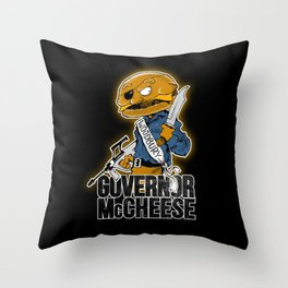 Governor McCheese Throw Pillow