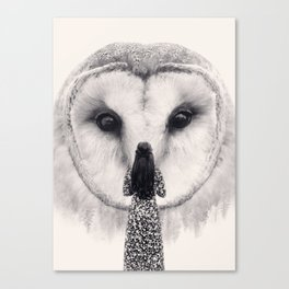 My Nocturnal Friend Canvas Print