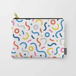 Memphis Inspired Pattern Carry-All Pouch