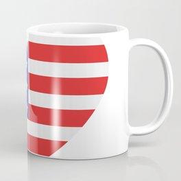 united states flag with heart Coffee Mug