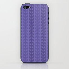 Violet shades & Leaves iPhone Skin