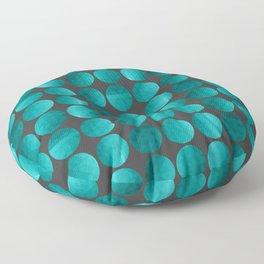 Emerald circles Floor Pillow