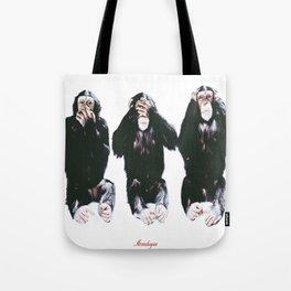 The three wise monkeys Tote Bag