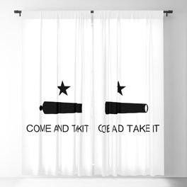 Texas Come and Take it Flag Blackout Curtain